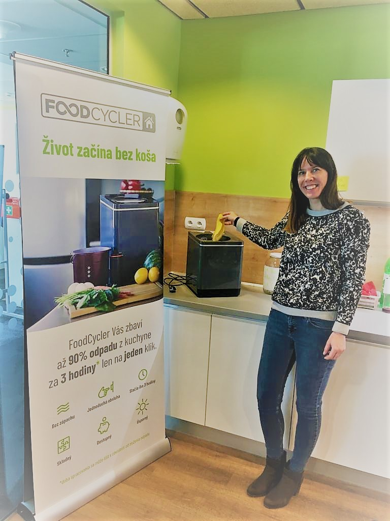 Veronika z IBM a FoodCycler